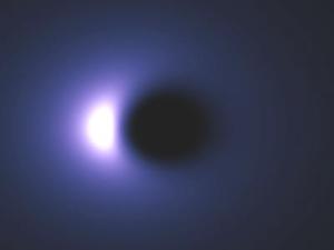 Pole Löcher Weiße Schwarze Weißes Loch