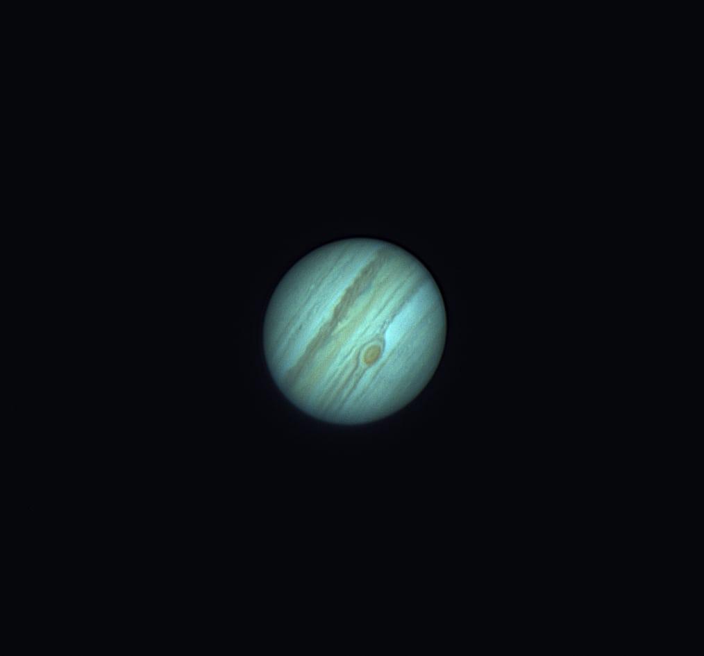 Jupiter mit Roten Fleck von Borneo
