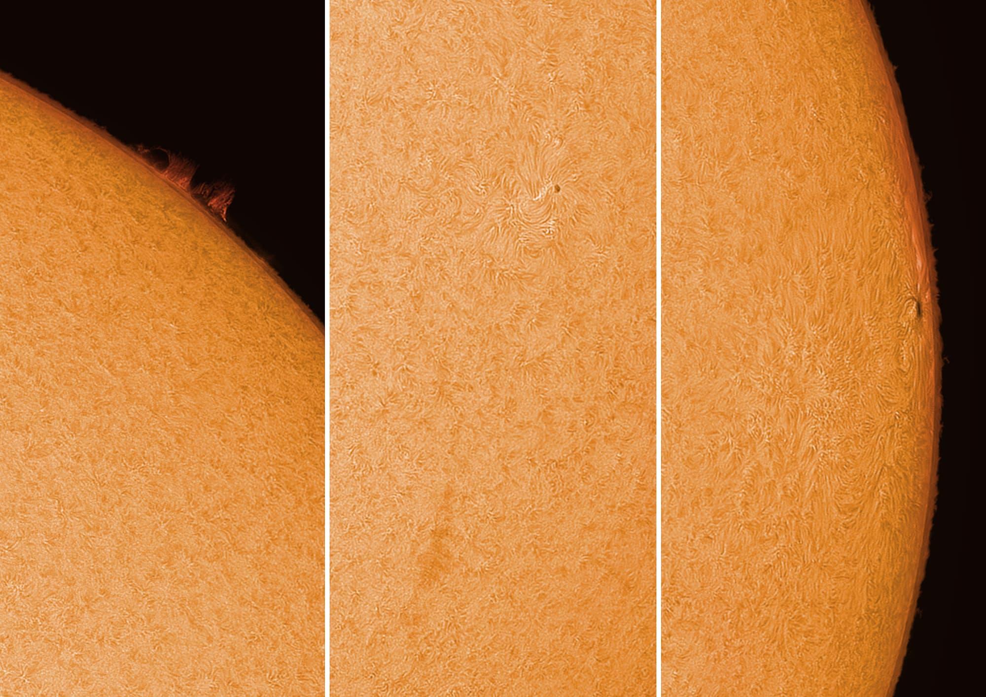 Sonne im H-Alpha-Licht am Karfreitag - 2