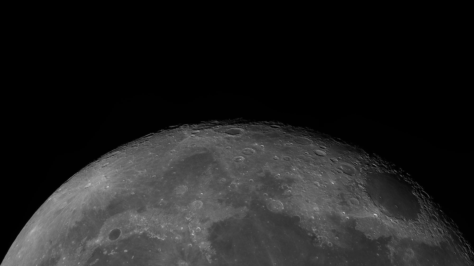 Panorama des abnehmenden Mondes vom 13. November 2019