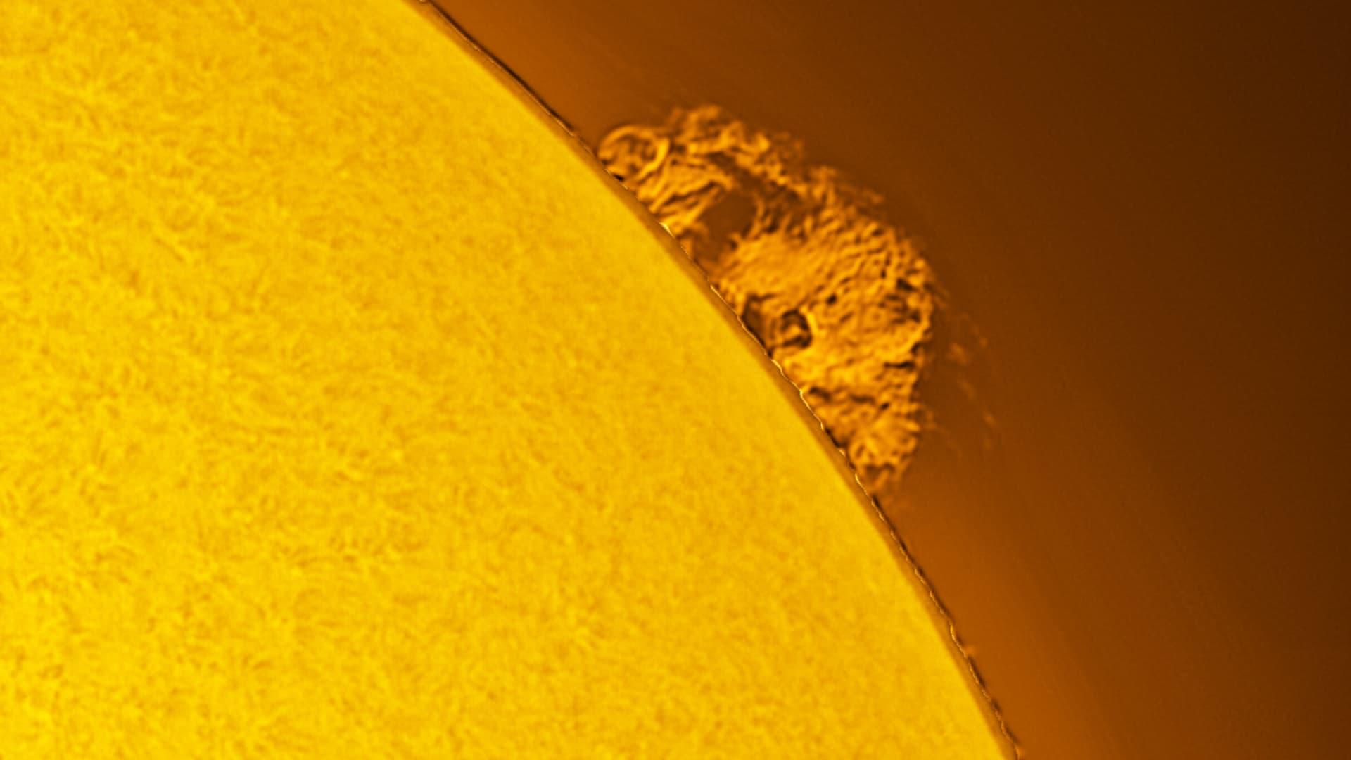 Sonnenprotuberanz am 23. Februar 2021
