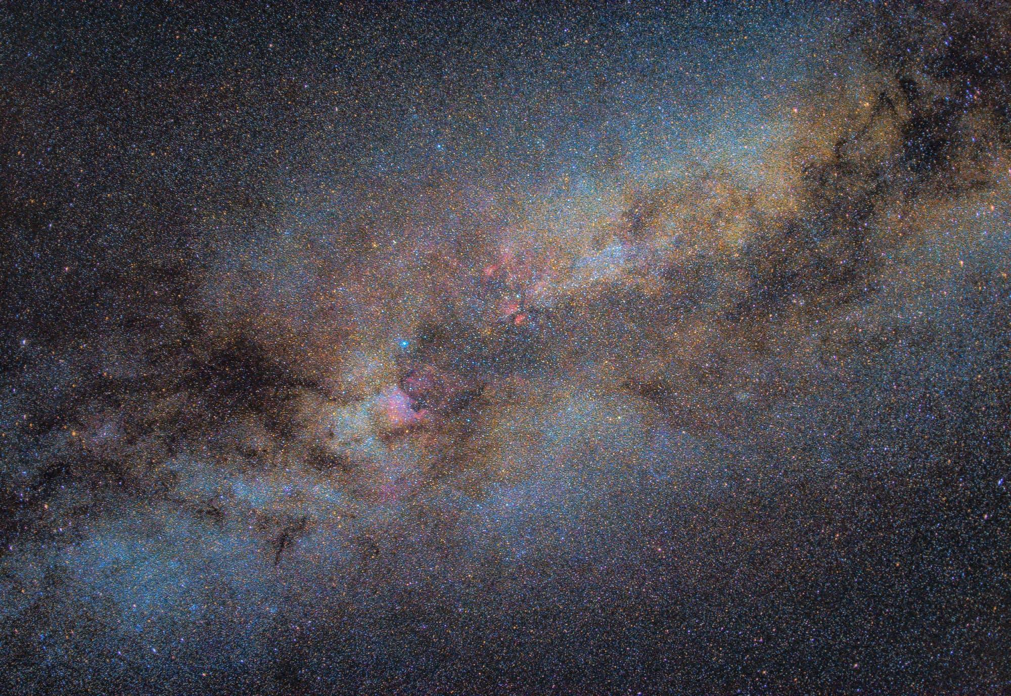 Die Milchstraße im Schwan