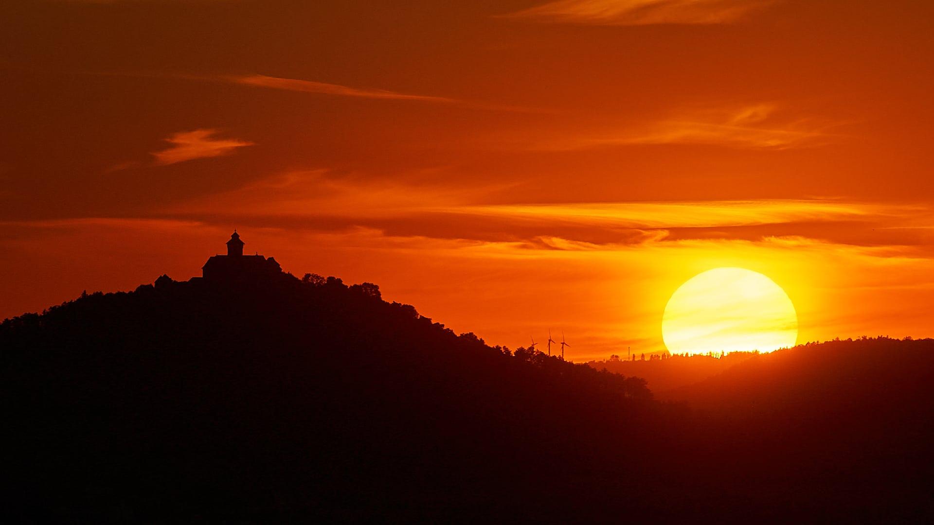 Sonnenuntergang bei der Wachsenburg