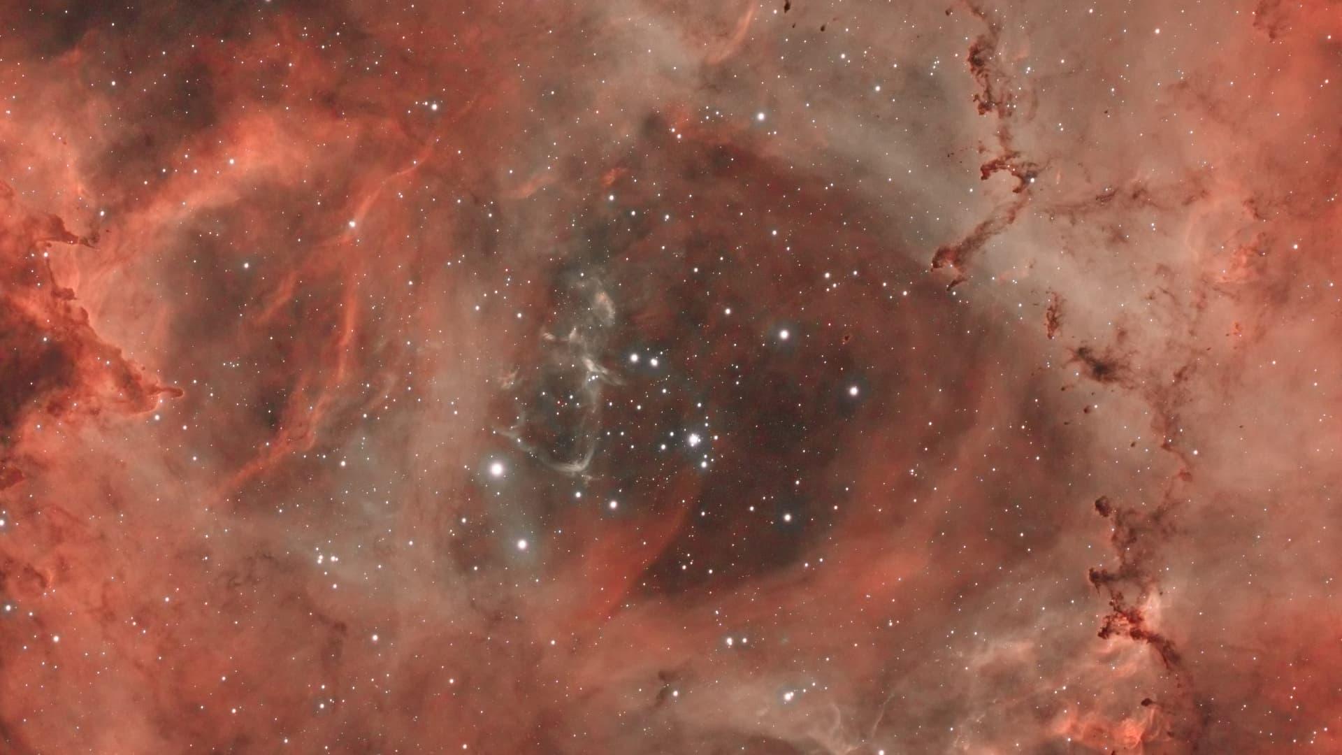 NGC 2244 als H-Alpha-RGB-Komposit