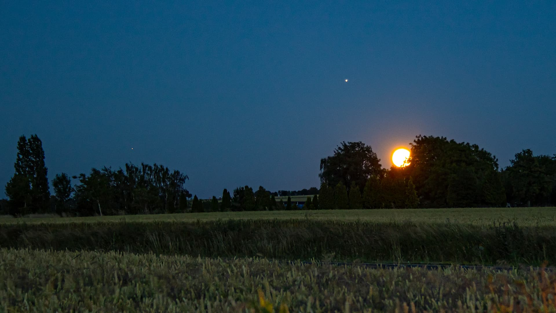 Saturn - Jupiter - Mond