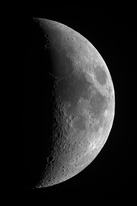 Mond am 10. Mai 2019