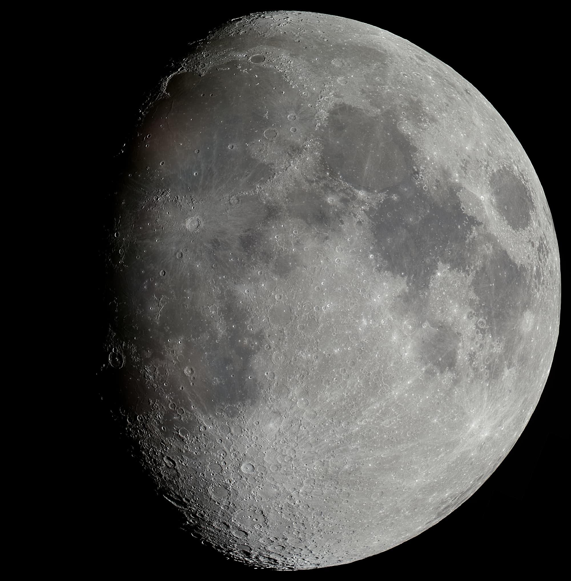 Mondpanorama aus 27 Einzelaufnahmen