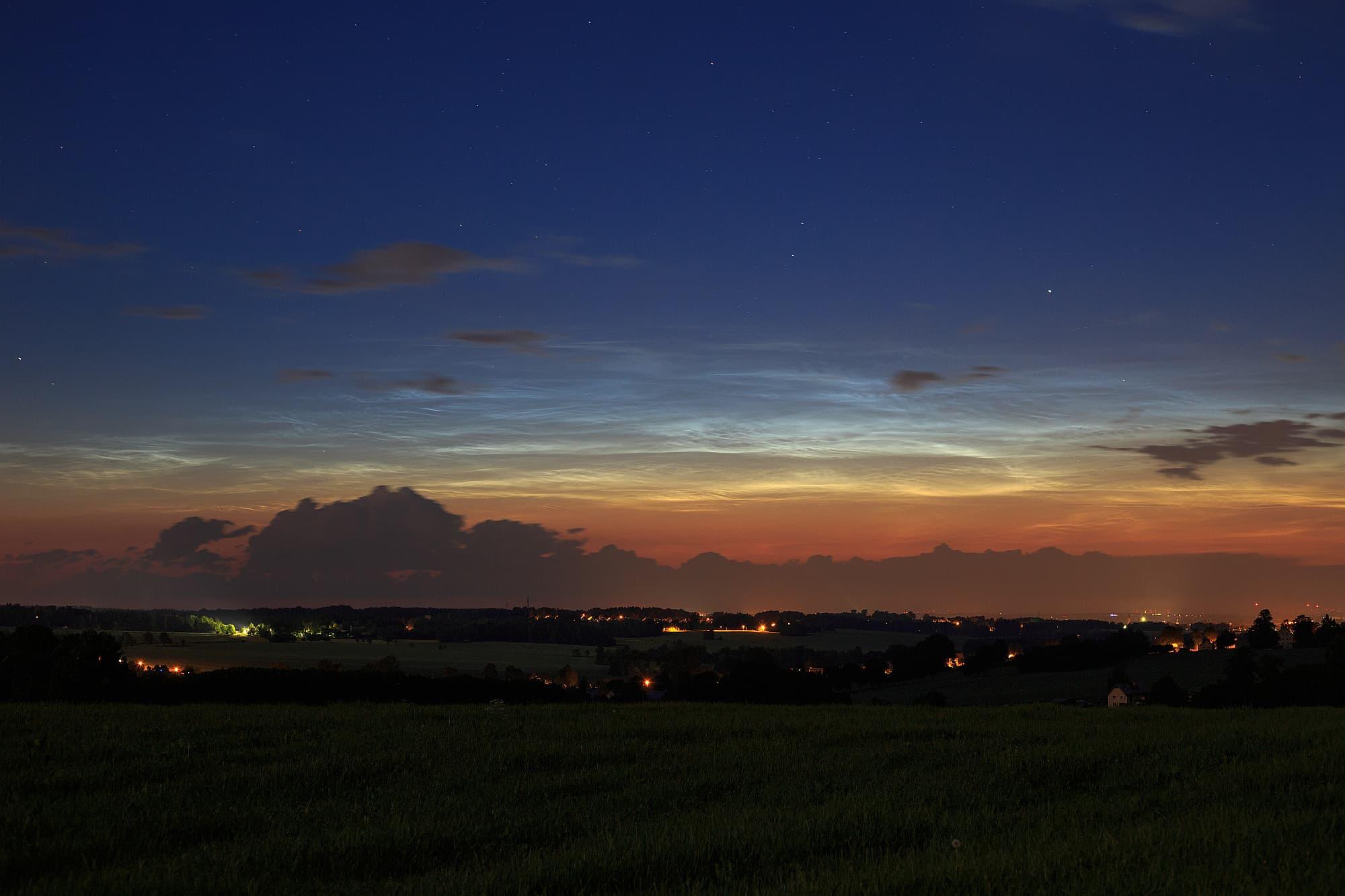 Leuchtende Nachtwolken am 13. Juni 2019