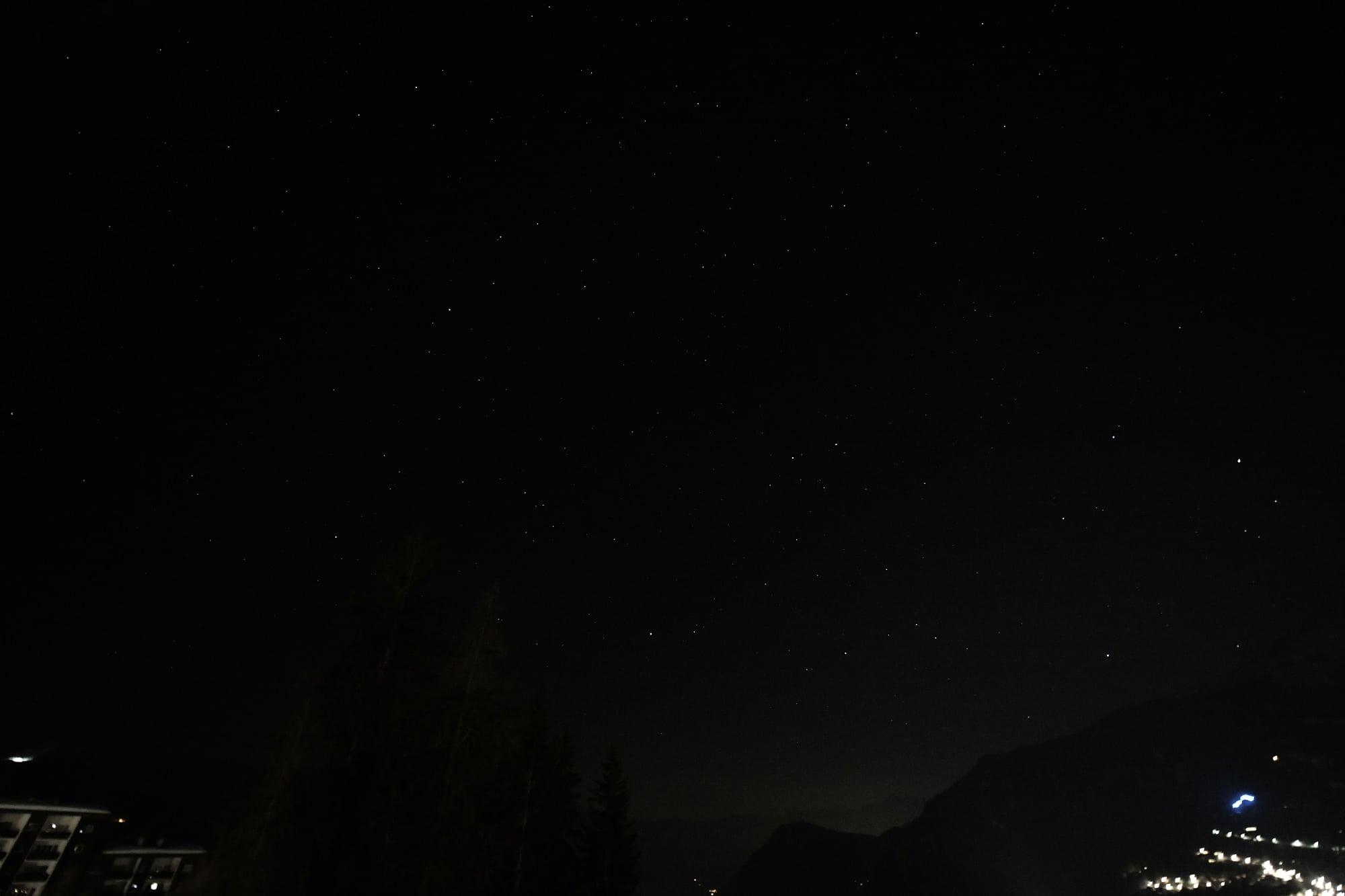 Sternbild Orion aus der Hand fotografiert