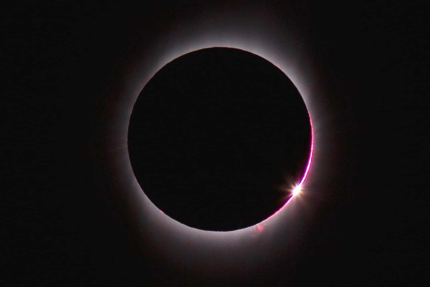 Sonnenfinsternis - Diamantring