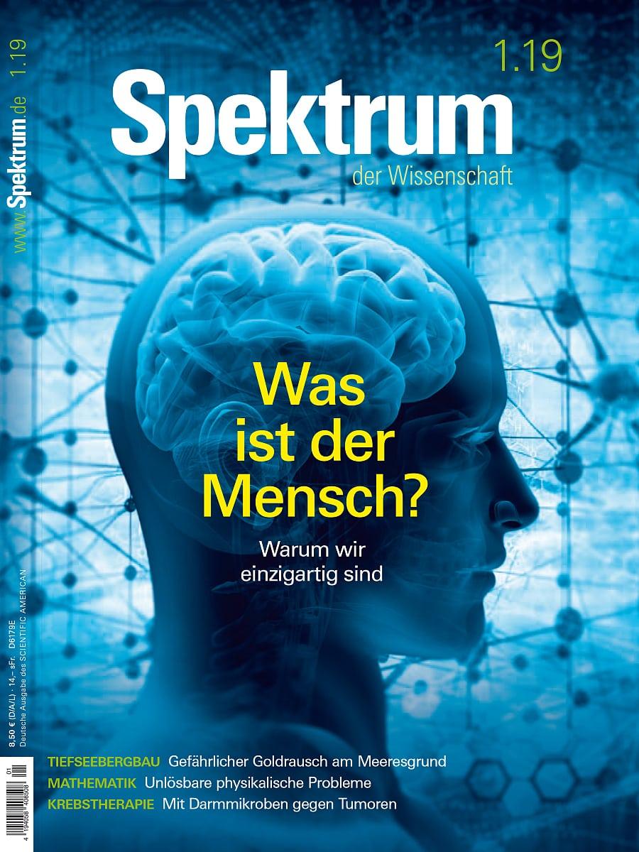 Was Ist Der Mensch Spektrum Der Wissenschaft Januar 2019