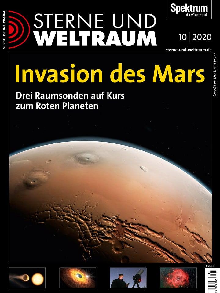 Heftcover Sterne und Weltraum Oktober 2020