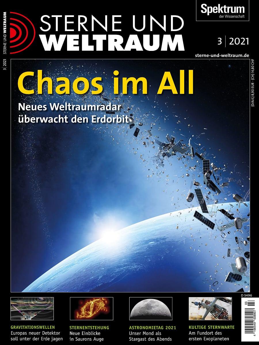 Chaos im All - Sterne und Weltraum 3/2021 - Spektrum der Wissenschaft