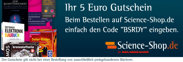 ScienceShop 5 Euro Gutschein
