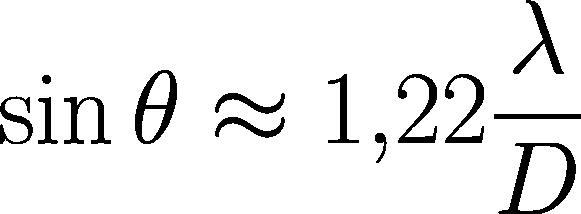 Formel für den Durchmesser des Airy-Scheibchens.