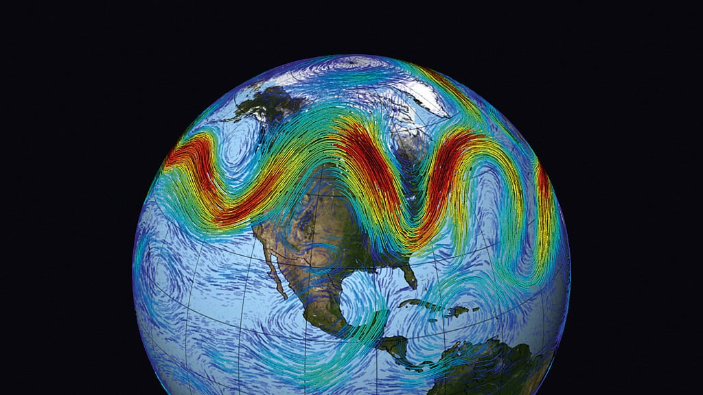Simulation des Jetstreams