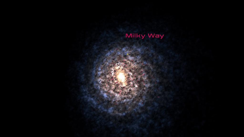 Γαλαξίας από ψηλά (εντύπωση καλλιτέχνη)