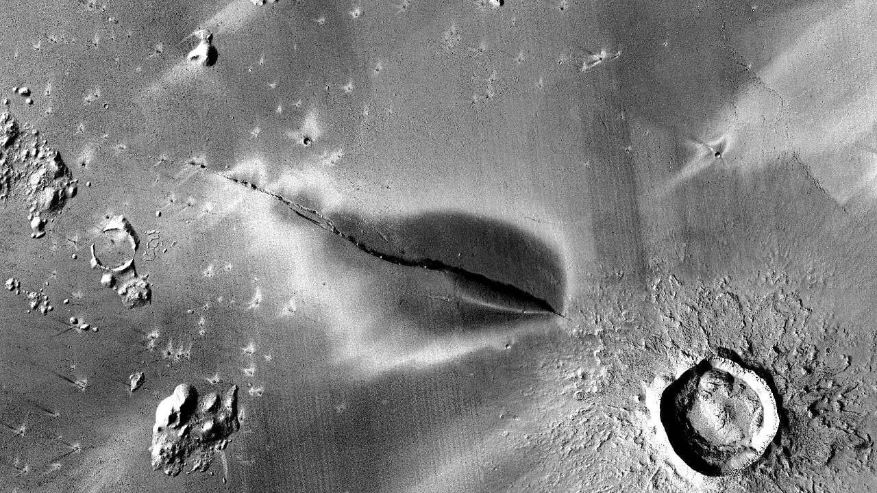 Junge Ausbruchsspuren: Mars-Vulkane könnten noch aktiv sein