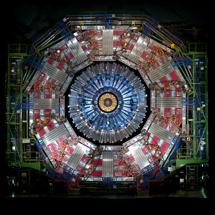 CMS-Detektor am Large Hadron Collider (LHC)