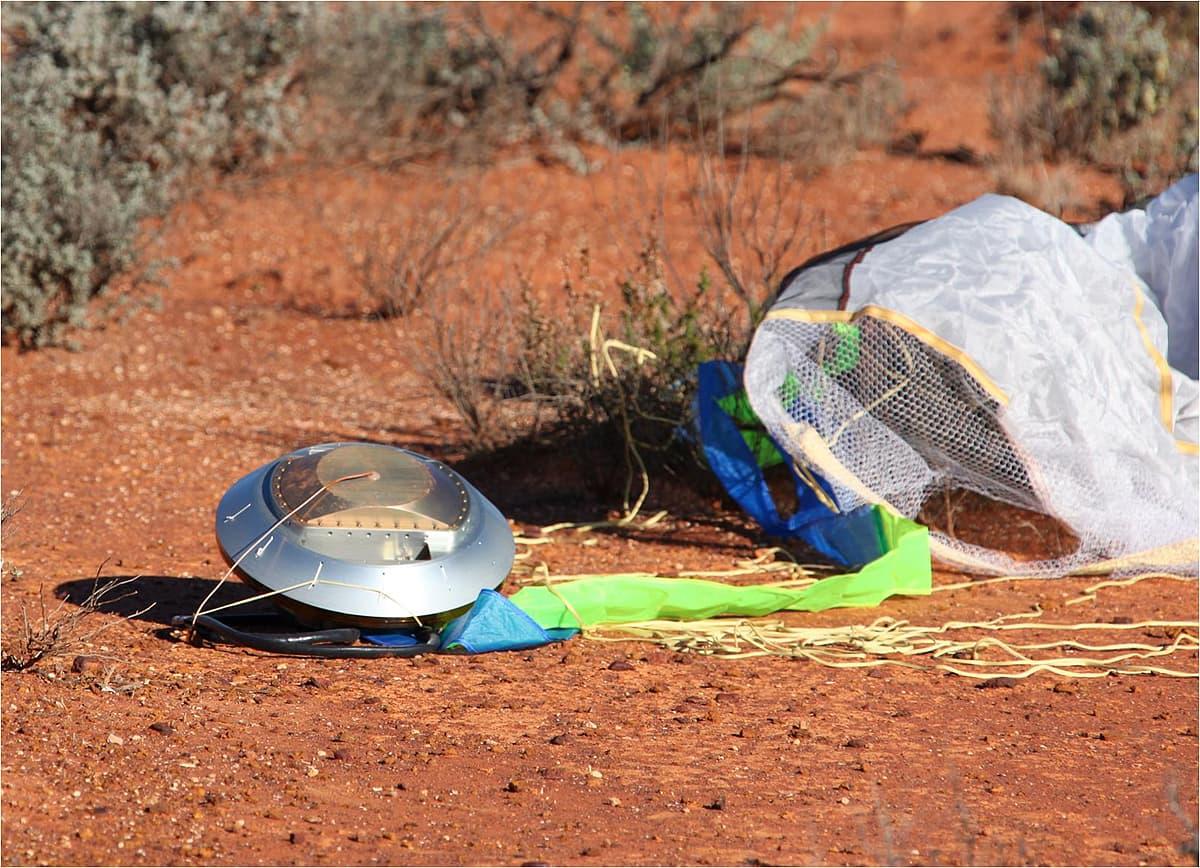Die Rückkehrkapsel von Hayabusa in Australien