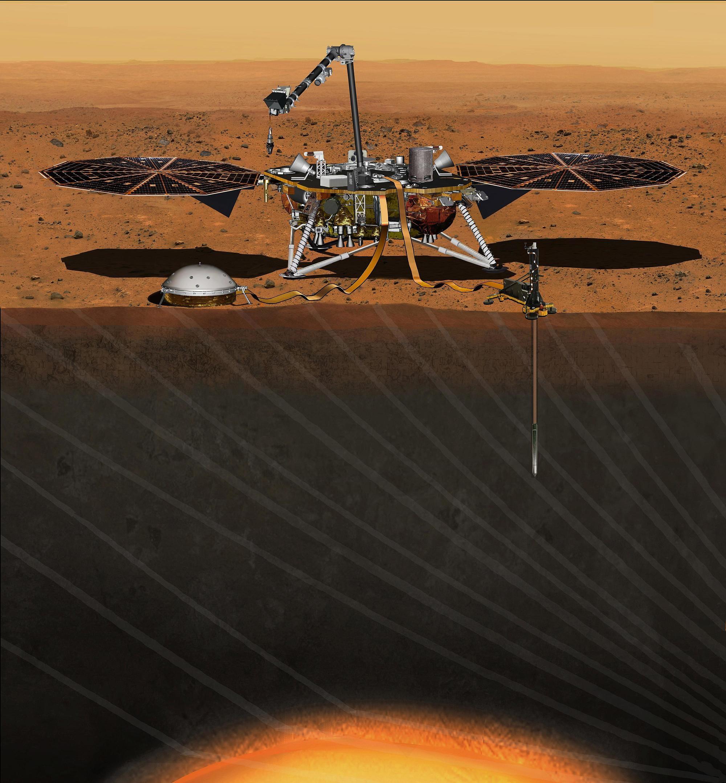 Nasa schickt Raumsonde InSight für zweijährige Forschungsmission auf den Mars
