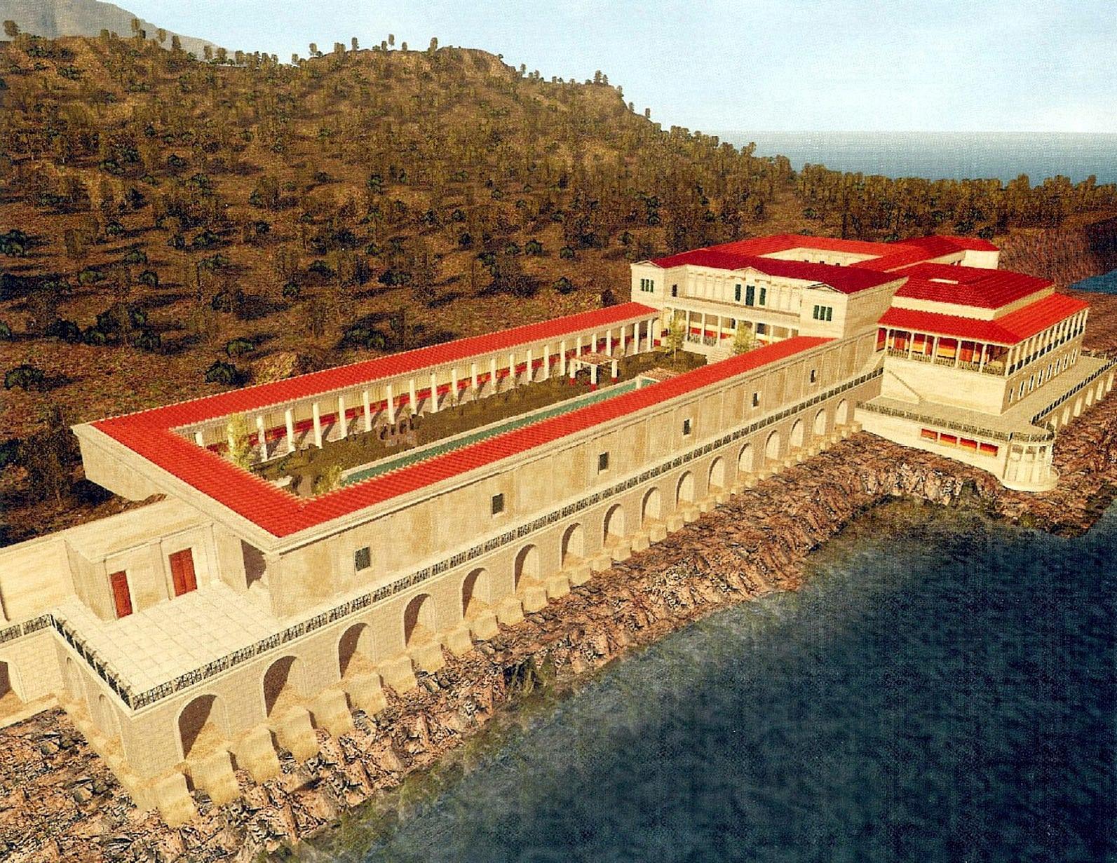 Rekonstruktion der Villa dei Papiri