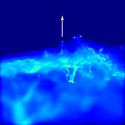 Computer-Simulation des Cosmic Web Stripping