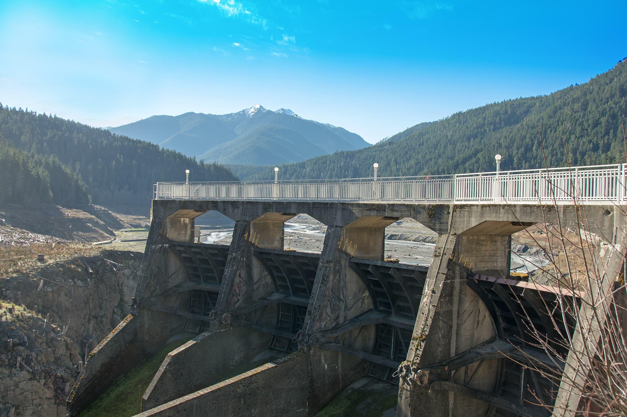 Der Glines-Canyon-Damm staute den Lake Mills auf