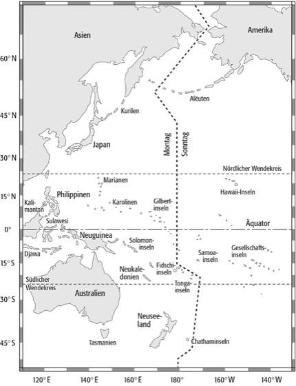 Datumsgrenze Lexikon Der Geographie