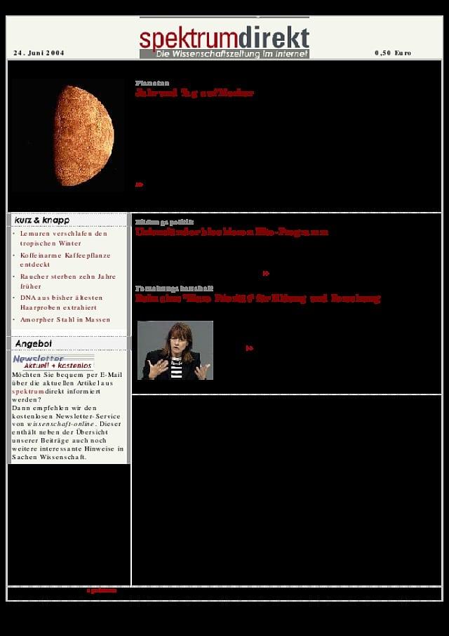 Planeten: Jahr und Tag auf Merkur - Spektrum der Wissenschaft