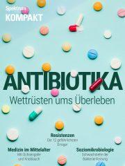 Cover Spektrum Kompakt:  Antibiotika – Wettrüsten ums Überleben
