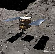 Grafik von Hayabusa auf der Oberfläche: Quelle: astronomie-heute